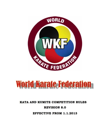 World Karate Federation Competition Rules